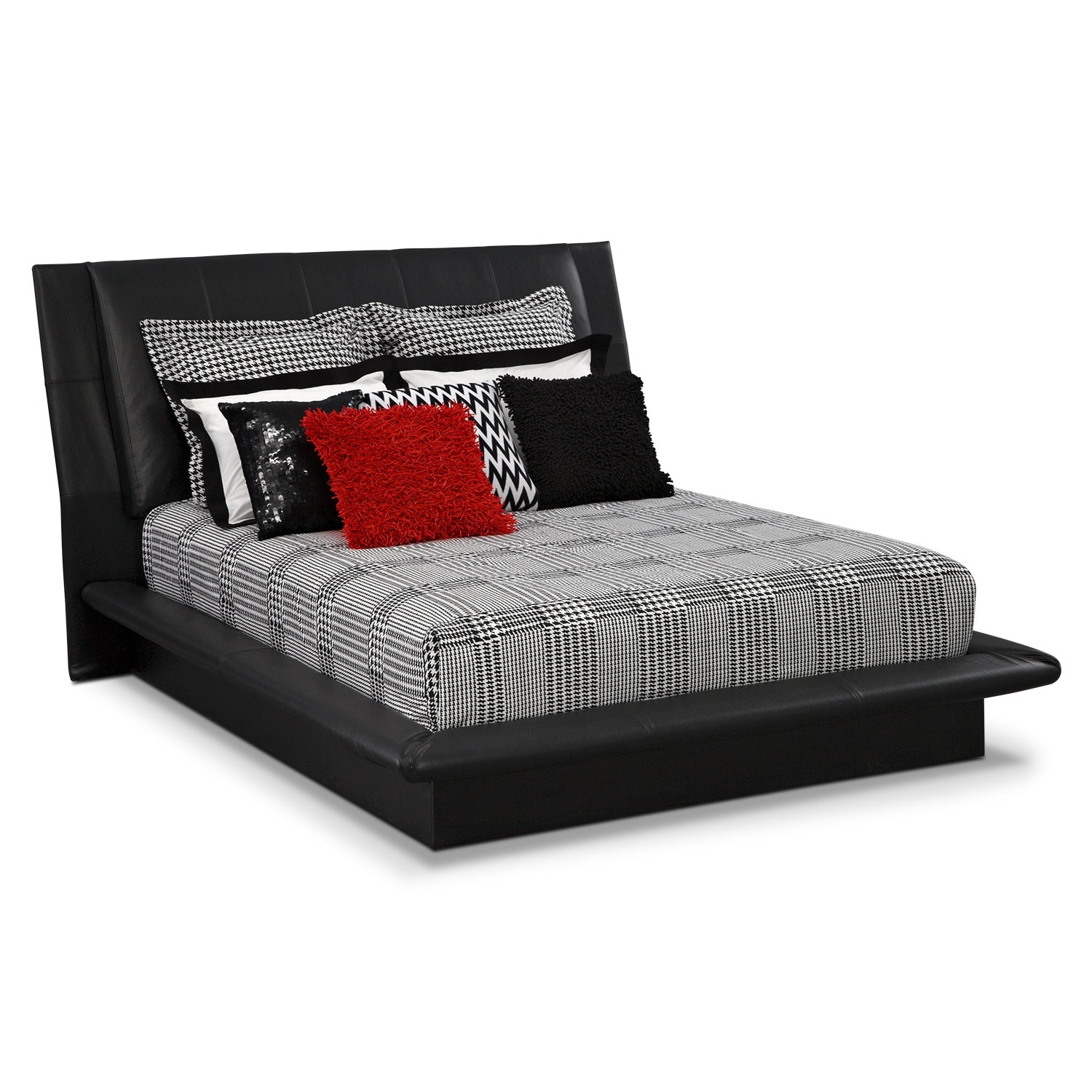 Accent and Occasional Furniture - Houndstooth Queen Bedding Set
