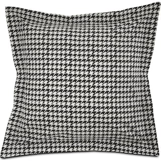 Houndstooth Euro Sham - Black and White