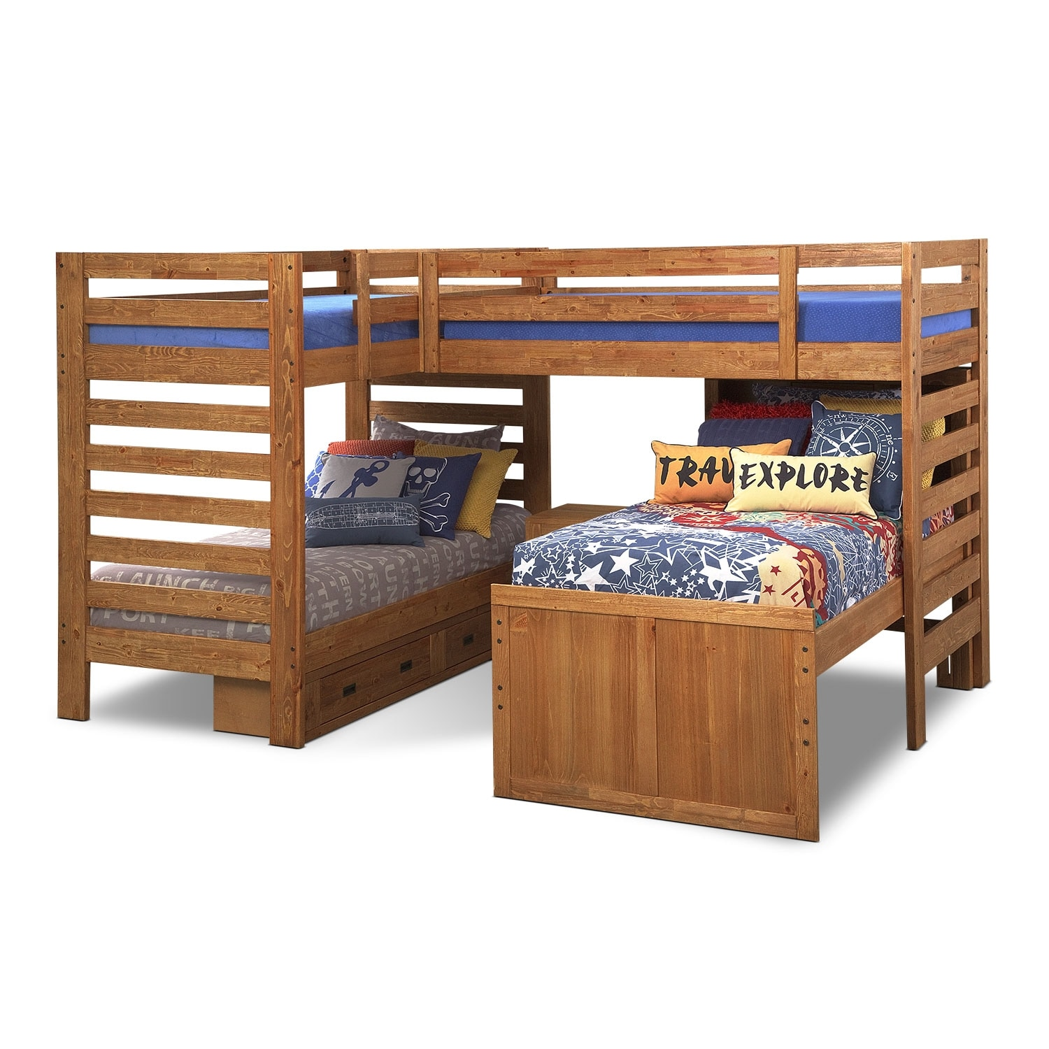 Accent and Occasional Furniture - Traveler Twin Bedding Set
