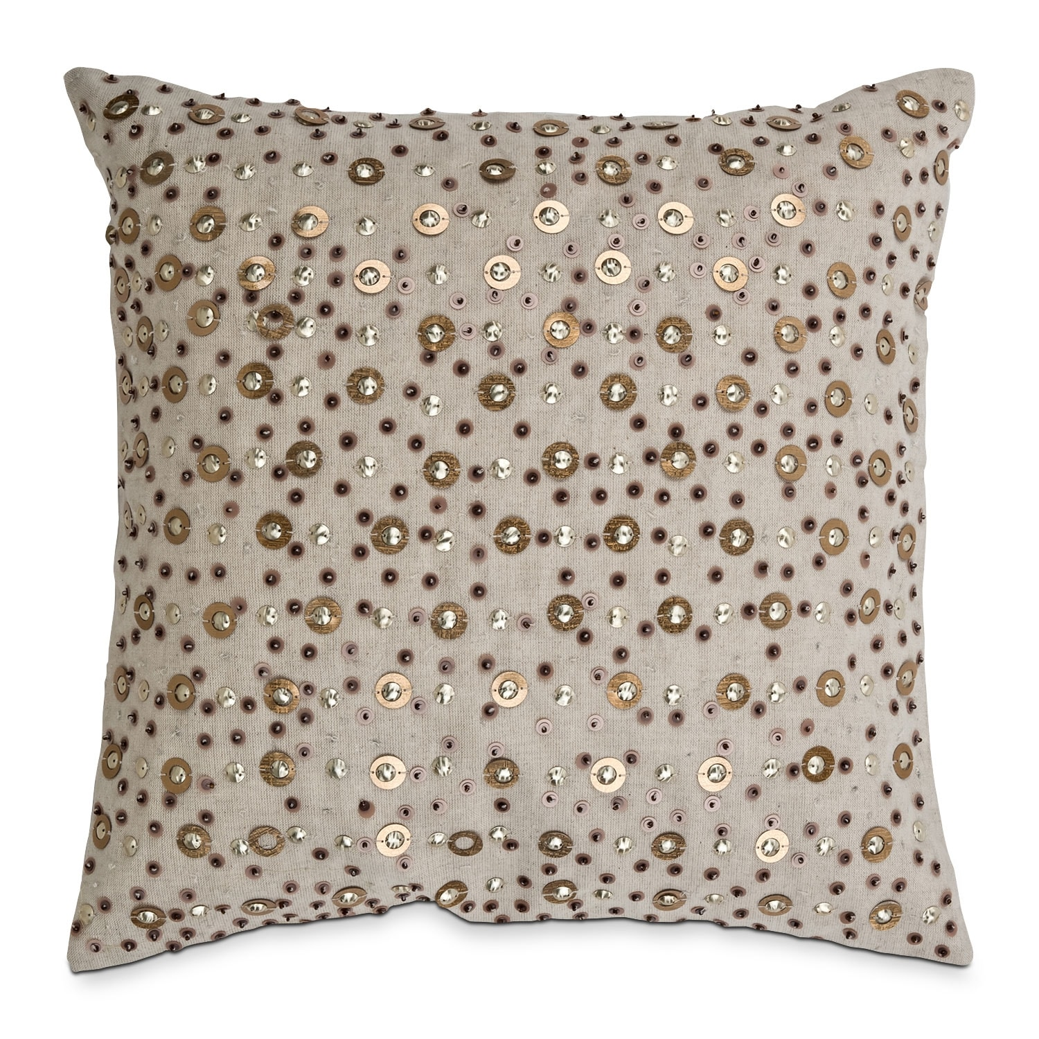 Accent and Occasional Furniture - Gold Sequins Decorative Pillow