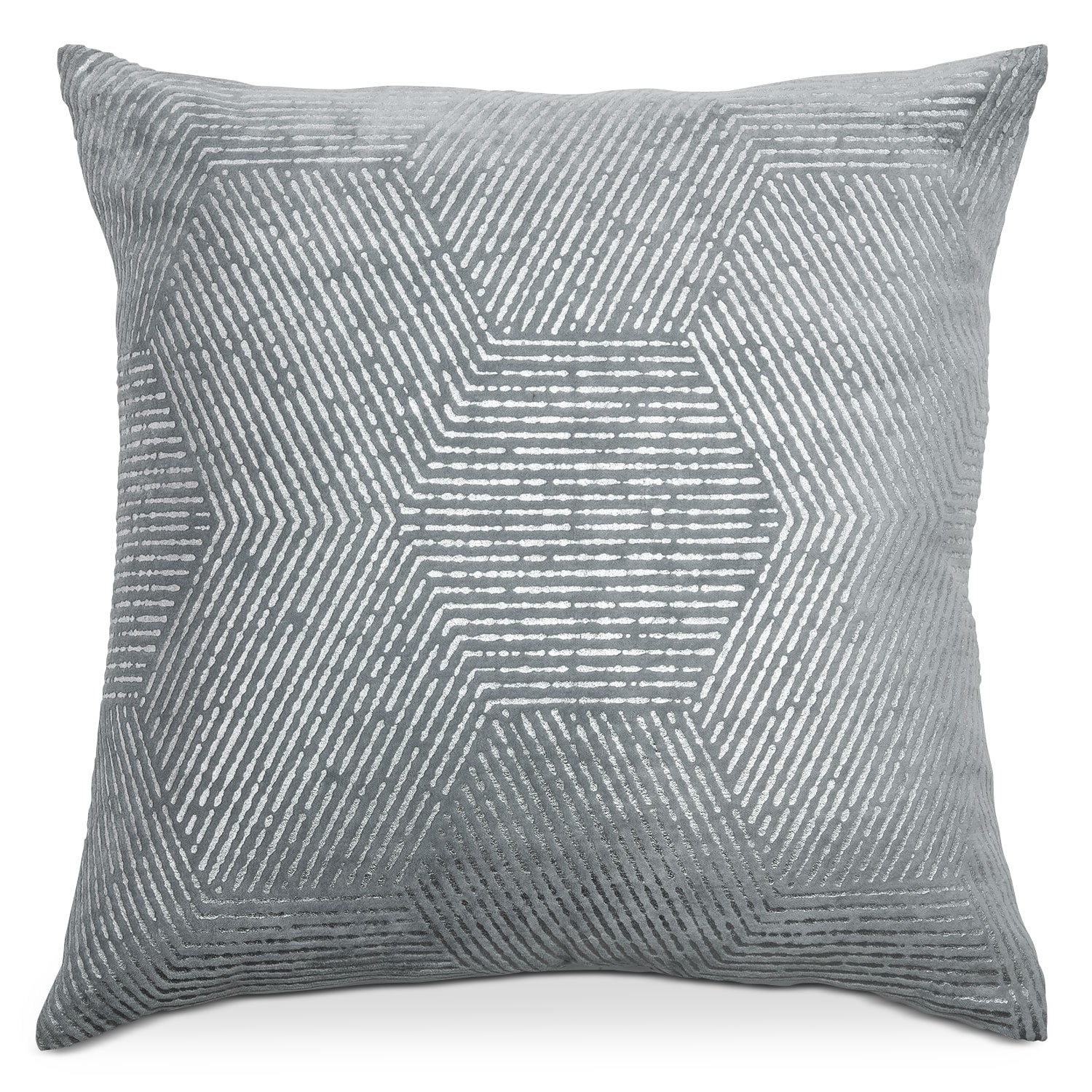 Accent and Occasional Furniture - Poly Quilt Spa Gray Decorative Pillow