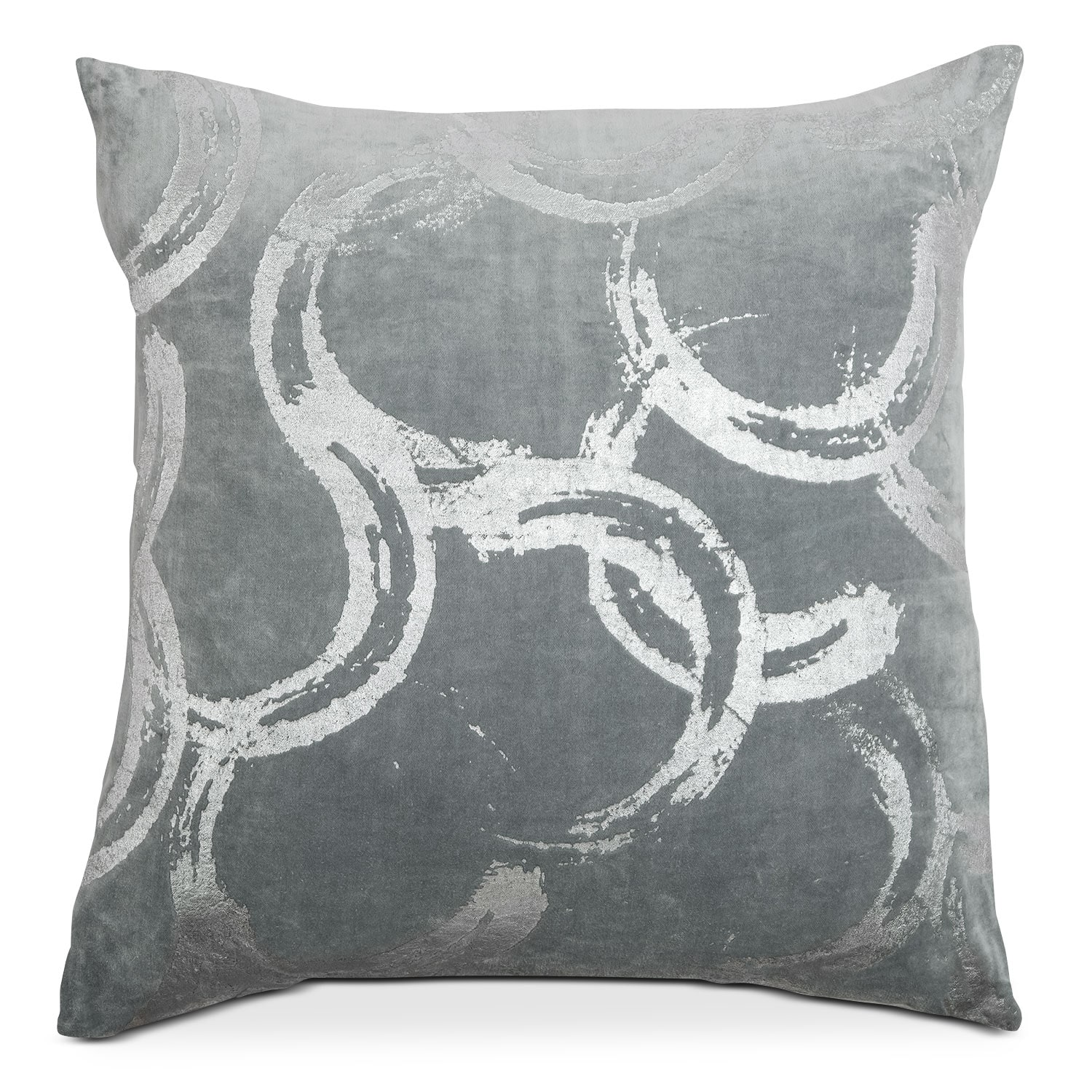 Accent and Occasional Furniture - Poly Quilt Spa Silver Decorative Pillow