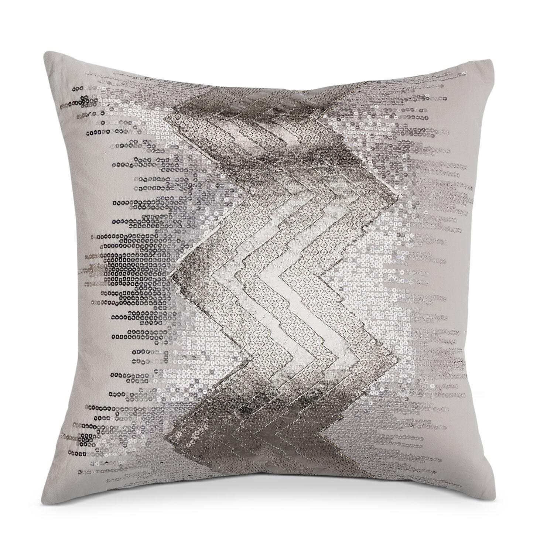 Petal Blush Metallic Decorative Pillow