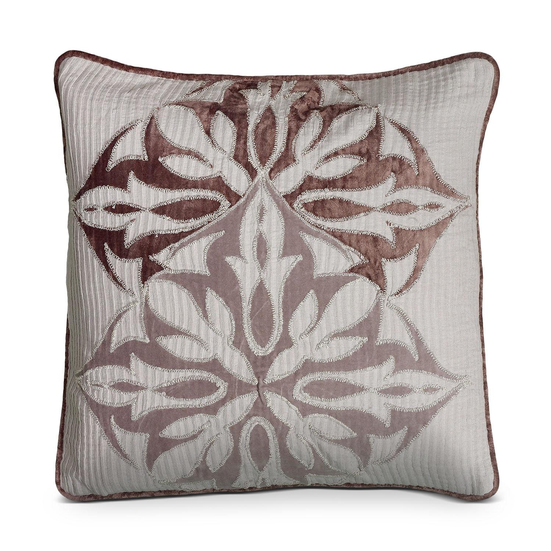 Petal Blush Plum Decorative Pillow