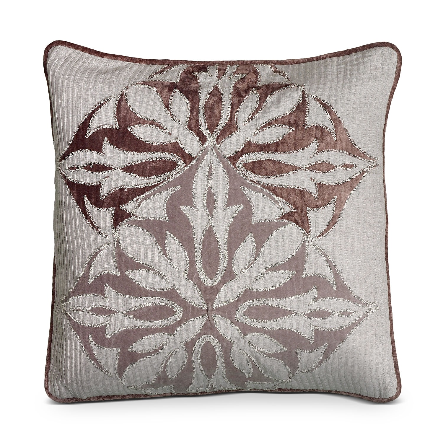 Accent and Occasional Furniture - Petal Blush Plum Decorative Pillow