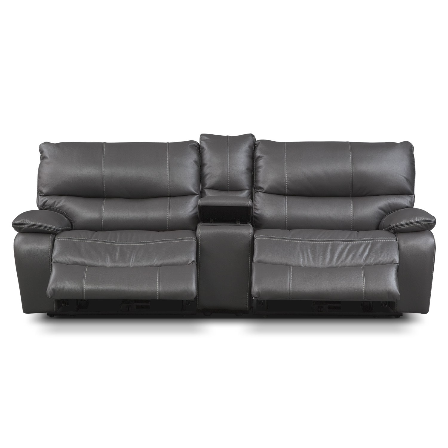 orlando power reclining sofa with console gray american rh americansignaturefurniture com reclining sofa with console recliner sofa with center console