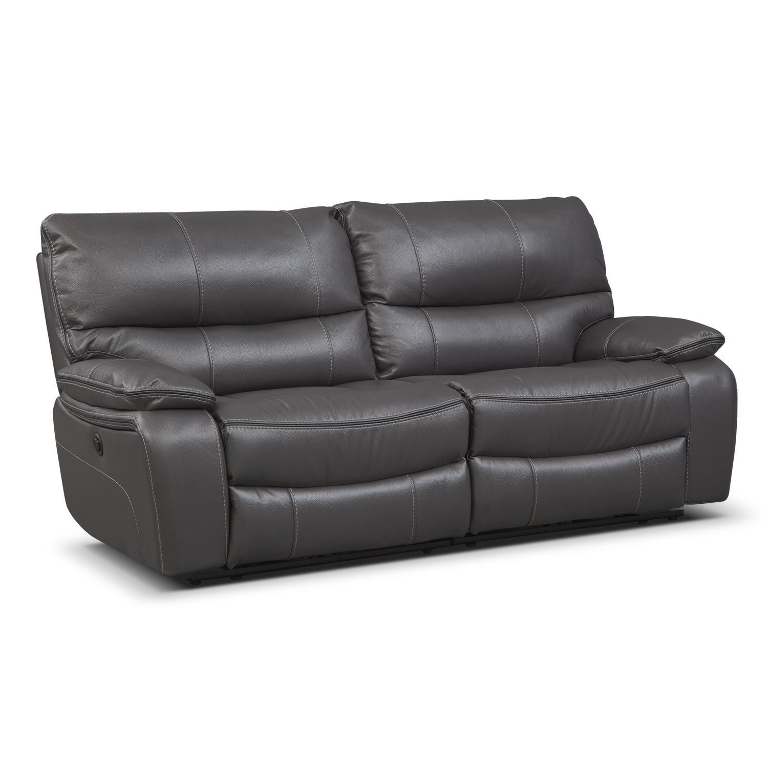 Orlando Power Reclining Sofa Gray American Signature Furniture