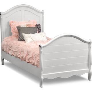 Carly 6-Piece Bedroom Set with Nightstand, Dresser and Mirror