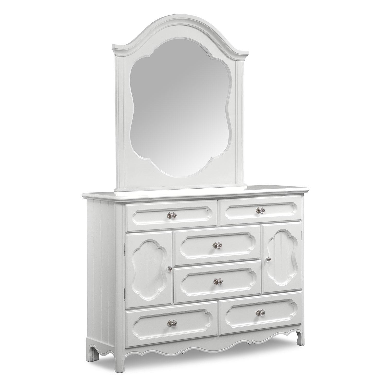 Kids Furniture - Carly Dresser & Mirror