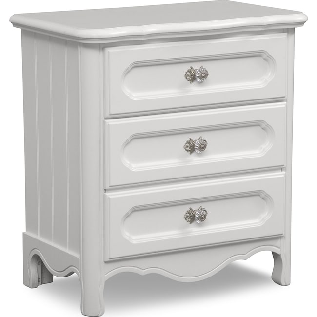Kids Furniture - Carly Nightstand - White