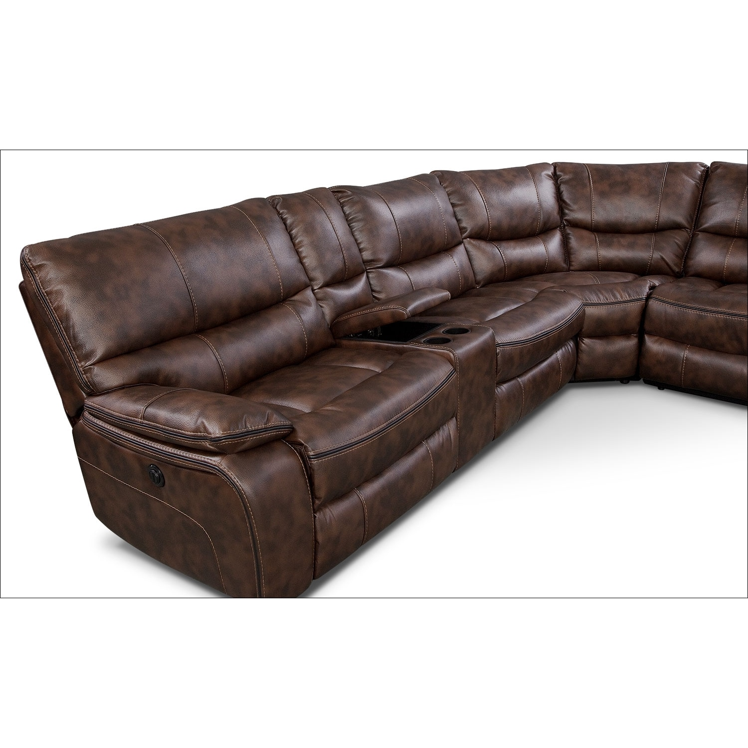 Leather Sectional Sofa With Power Recliner hmmi