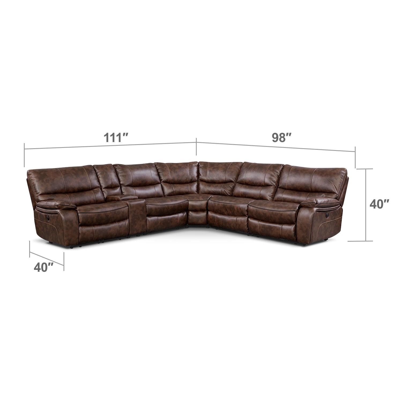 Living Room Furniture - Orlando II 6 Pc. Power Reclining Sectional (Alternate)
