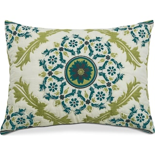 Madaline Marie King Quilted Sham - Lime and Teal