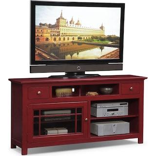 """Merrick 64"""" TV Stand - Red"""