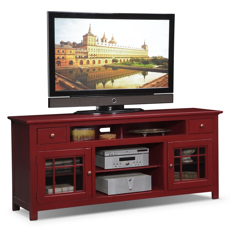 """Merrick 74"""" TV Stand - Red"""