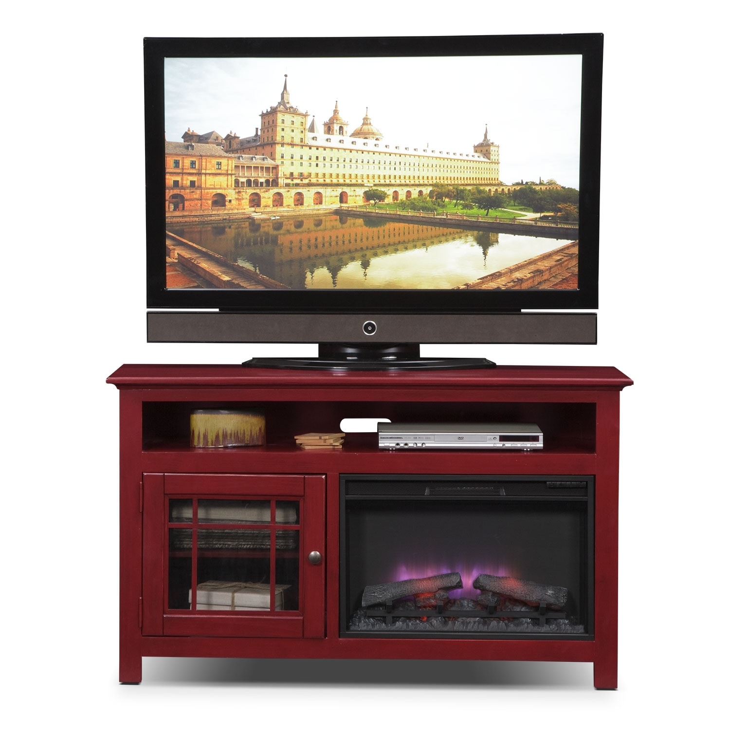 merrick 54 fireplace tv stand with traditional insert