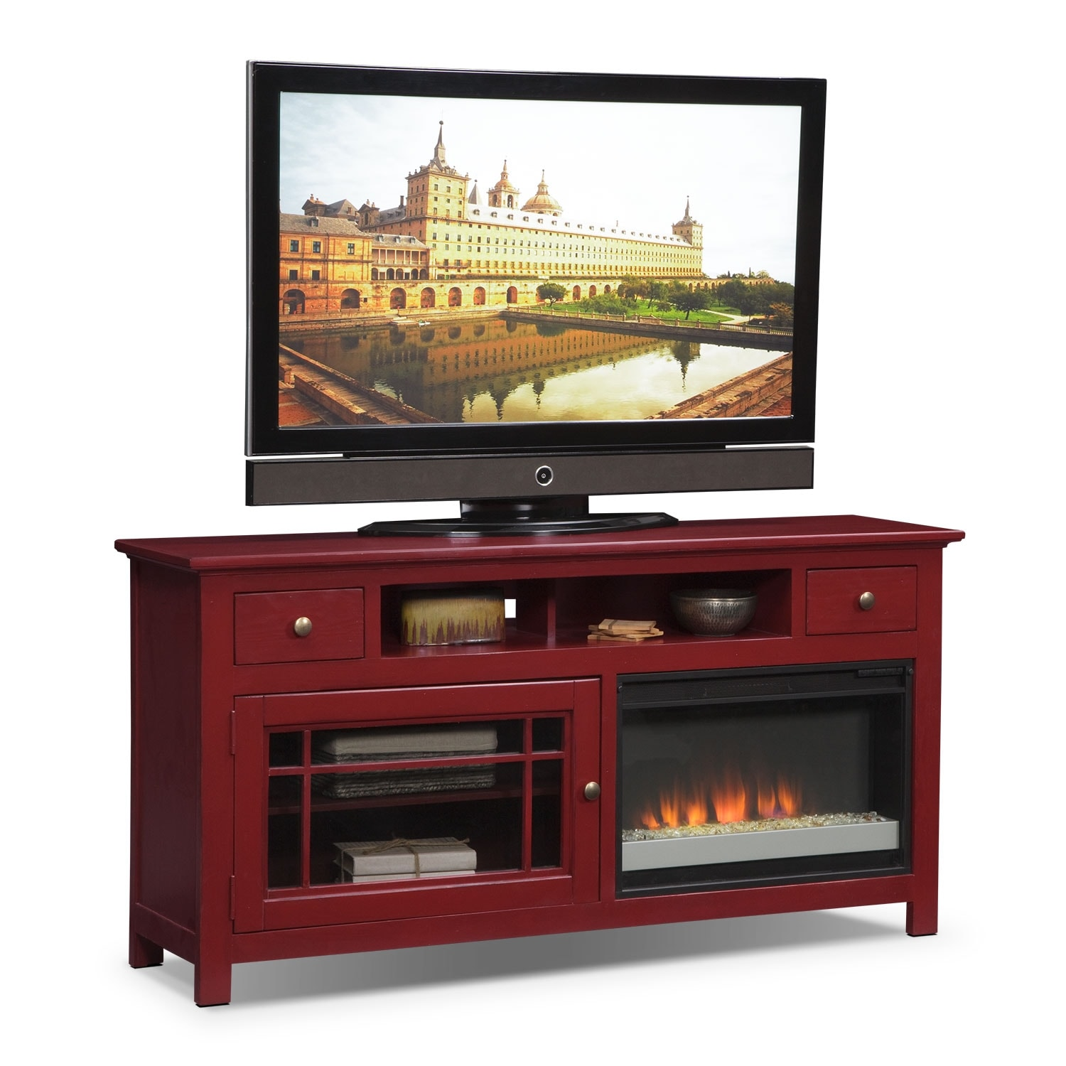 Buy Sotto Tv Stand With Fireplace Entertainment Clearance Raymour