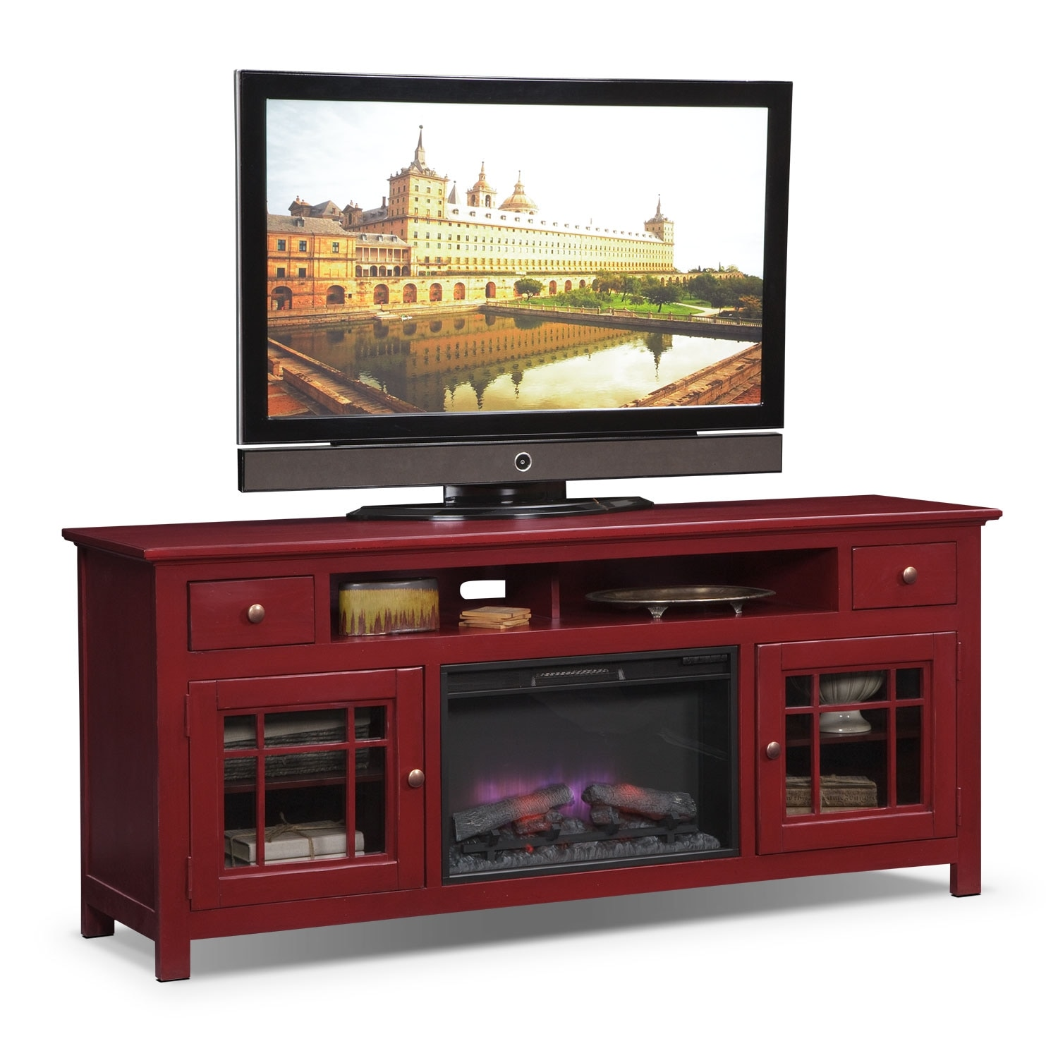 Find Sotto Tv Stand With Fireplace Entertainment Clearance Raymour