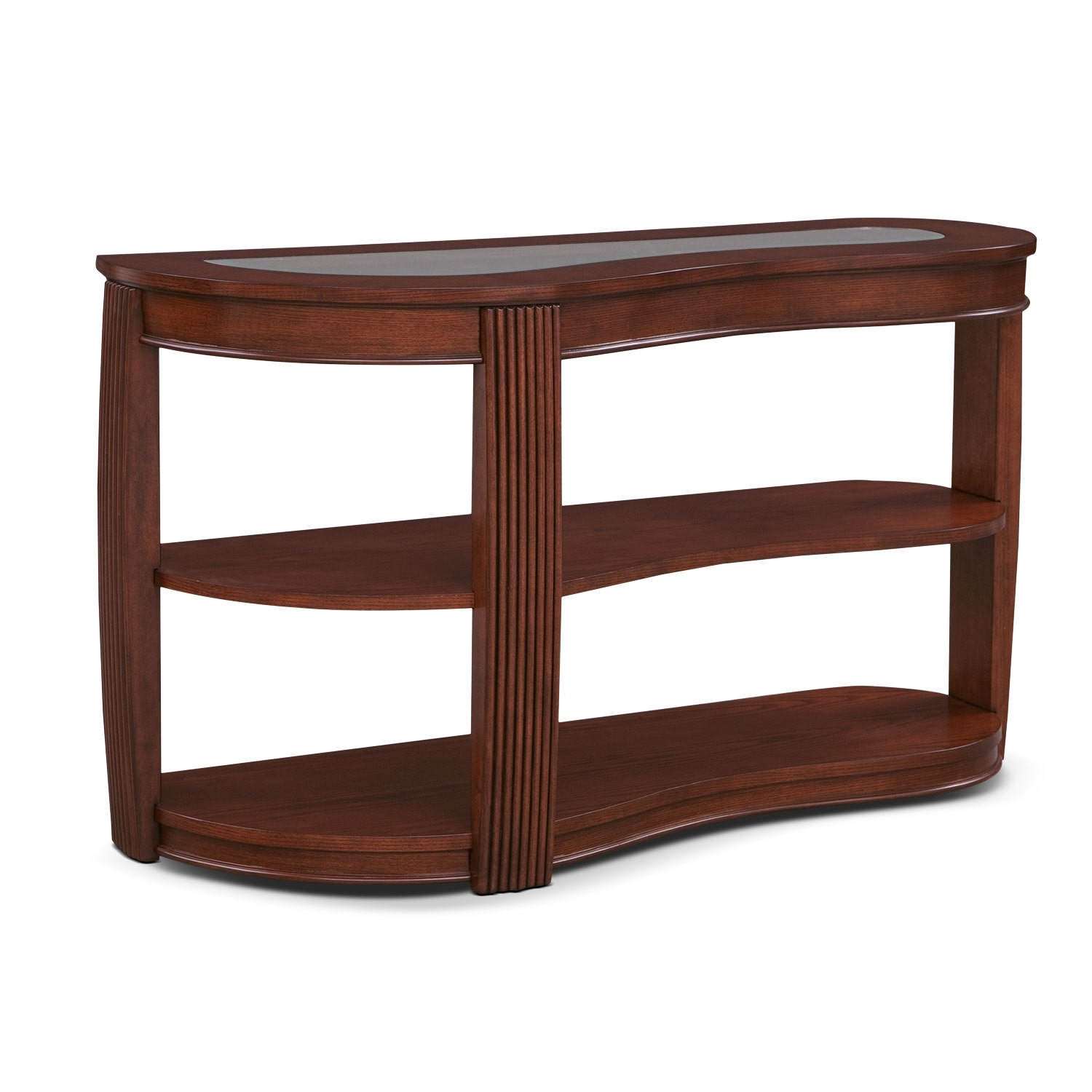 Teardrop Sofa Table - Burnt Umber