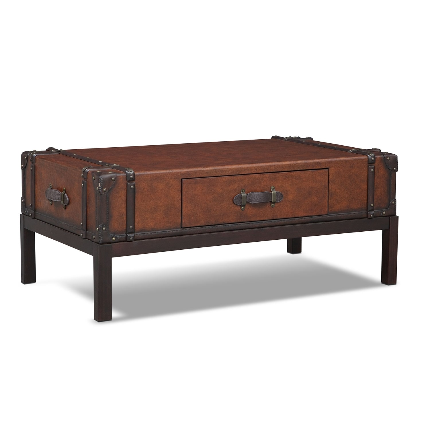 Accent and Occasional Furniture - Expedition Cocktail Table - Brown