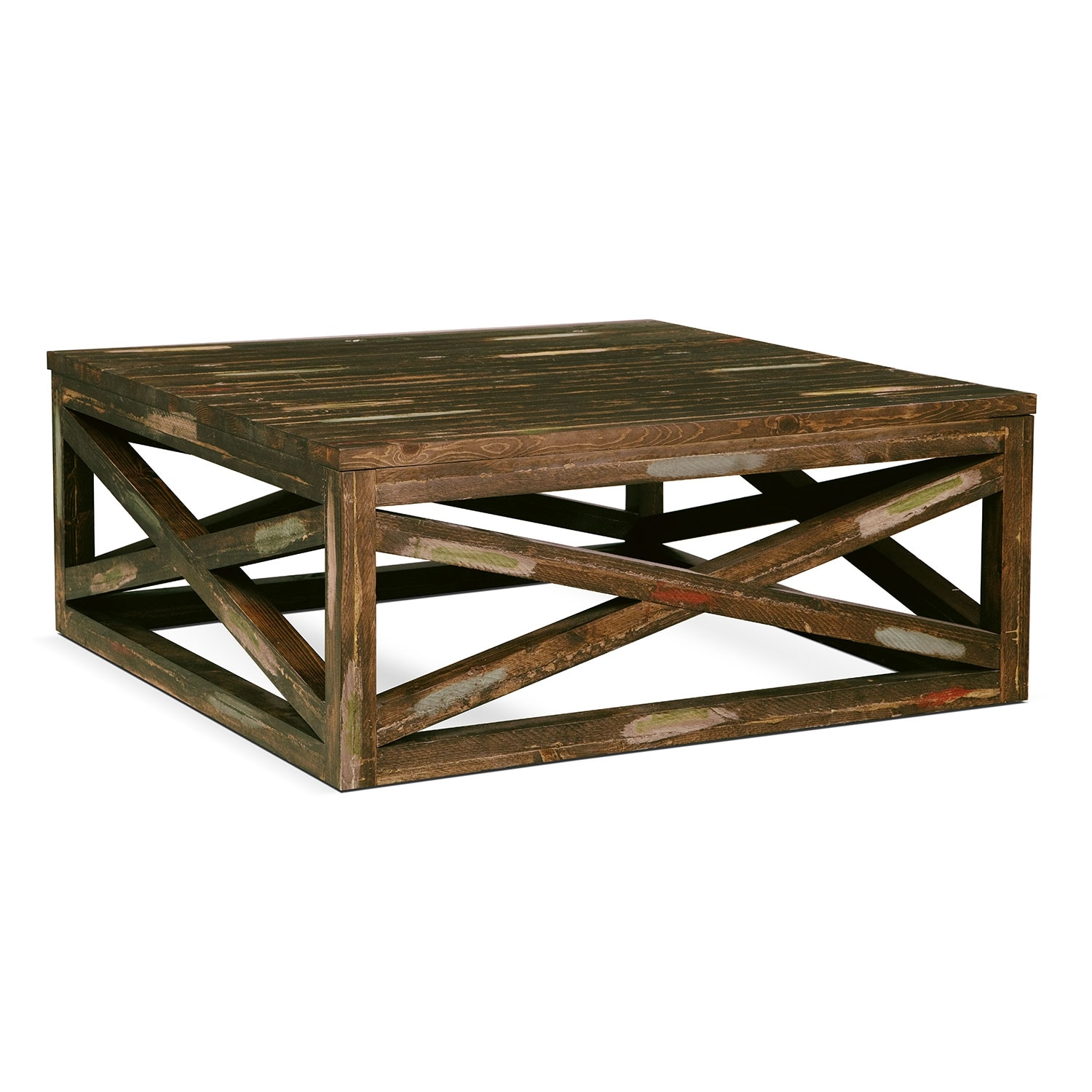 Monterey Cocktail Table - Weathered Brown