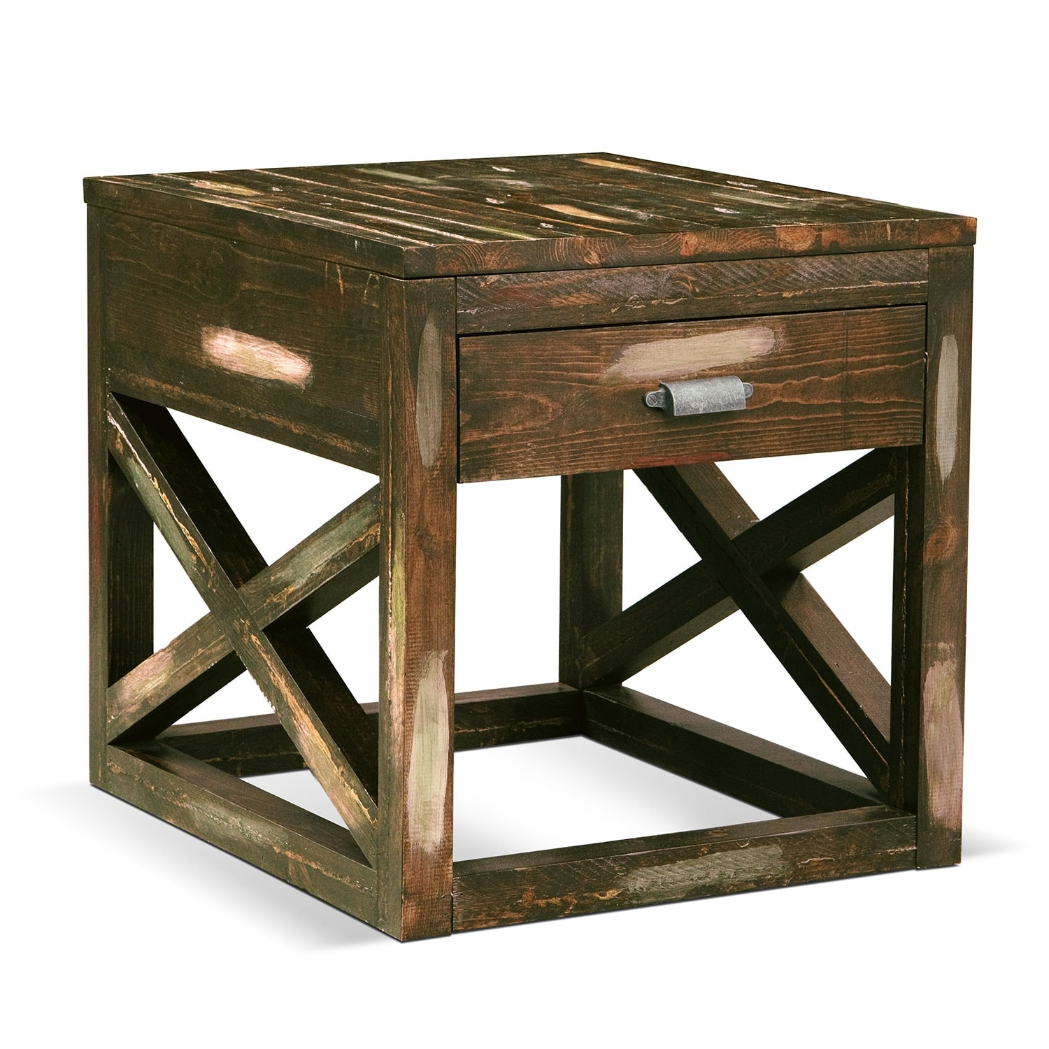 Monterey End Table - Weathered Brown