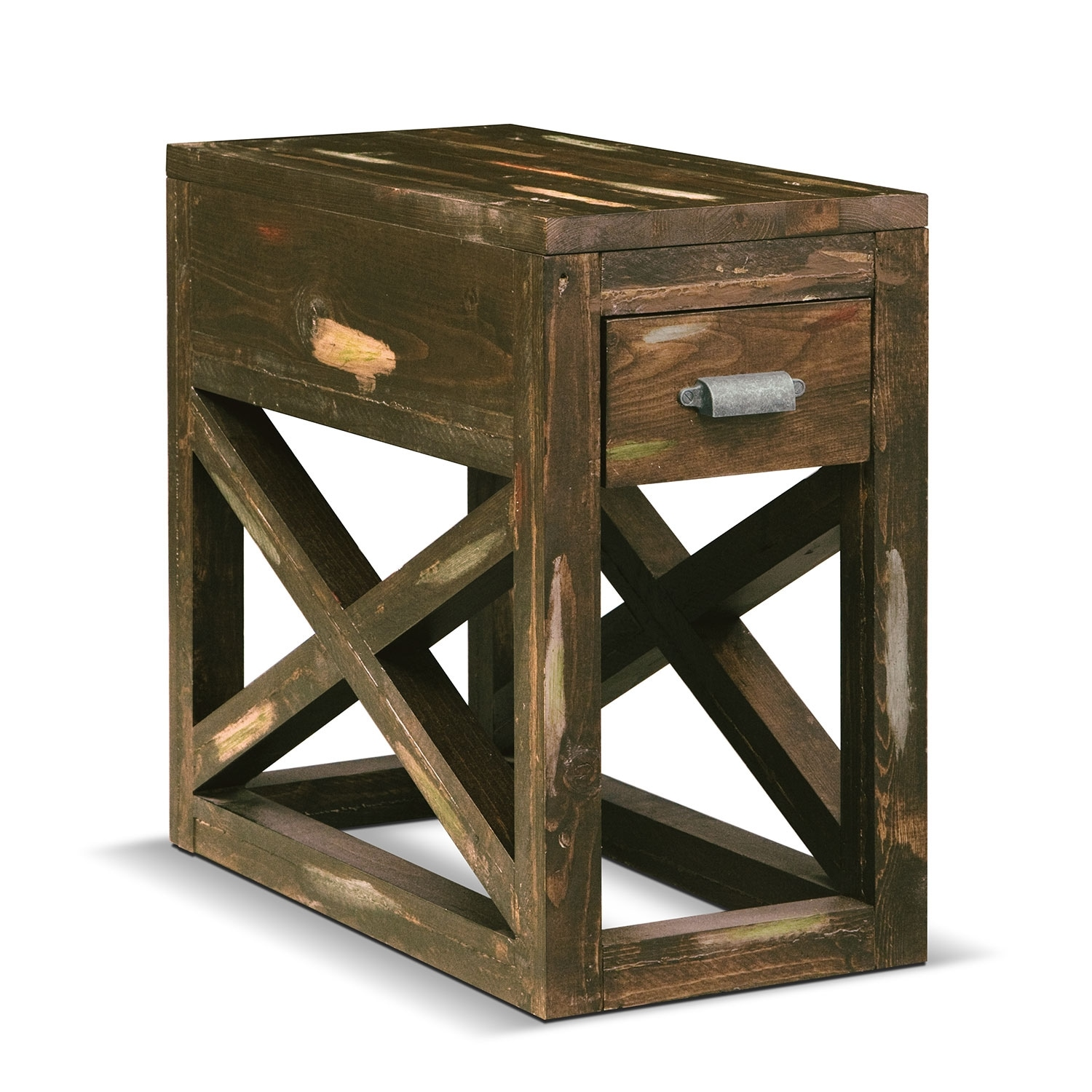 Monterey Chairside Table - Weathered Brown