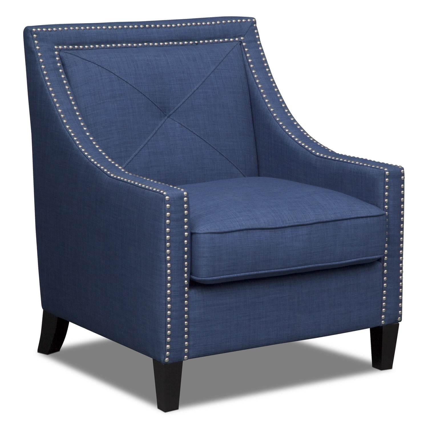 Living Room Furniture - Cabaret Accent Chair - Blue