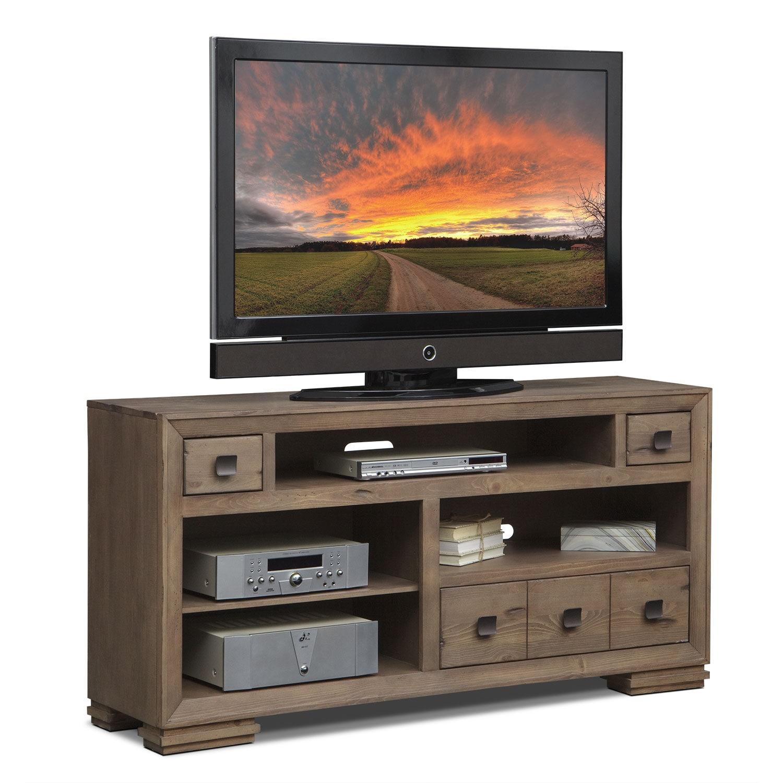 mesa 64 tv stand distressed pine american signature