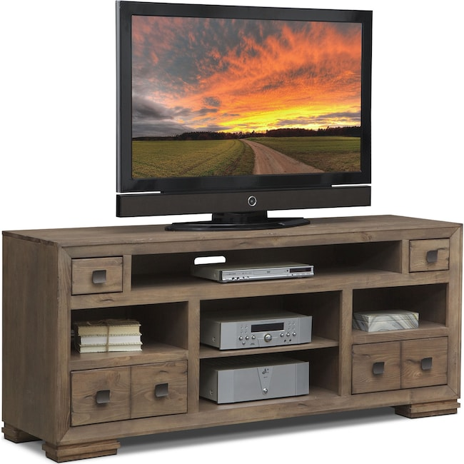 "Entertainment Furniture - Mesa 74"" TV Stand - Distressed Pine"