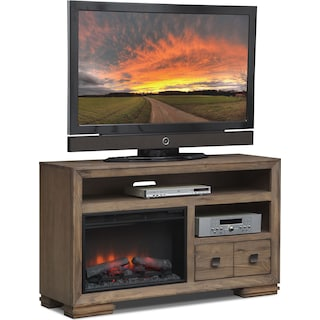 """Mesa 54"""" Fireplace TV Stand with Traditional Insert - Gray"""