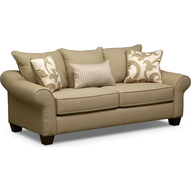 Living Room Furniture - Colette Sofa - Khaki