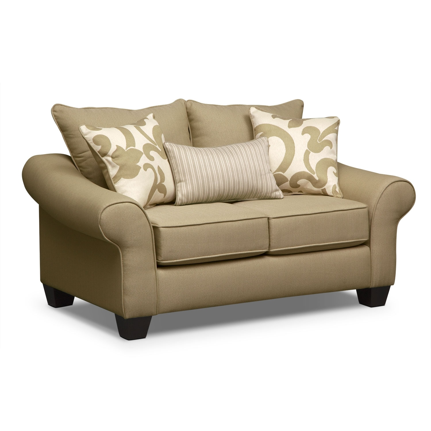 Living Room Furniture - Colette Loveseat - Khaki