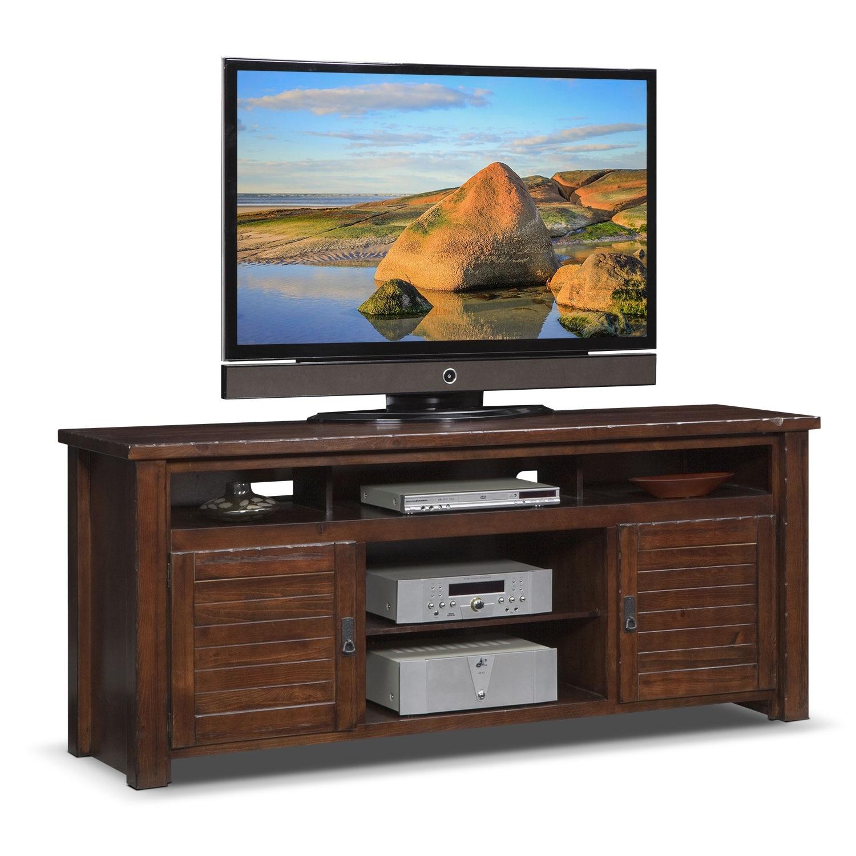 "Entertainment Furniture - Prairie 74"" TV Stand - Mesquite Pine"