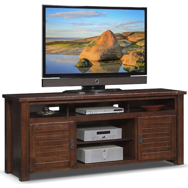 "Entertainment Furniture - Prairie 74"" TV Stand - Mesquite Pine"