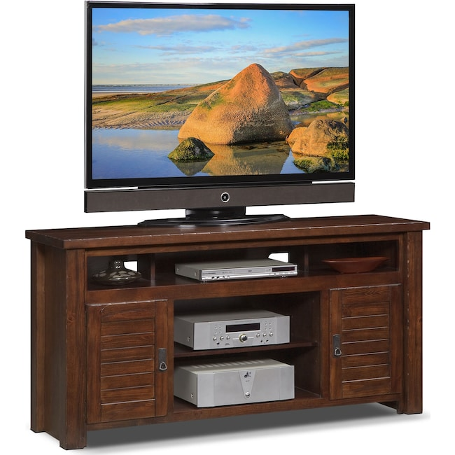 "Entertainment Furniture - Prairie 64"" TV Stand - Mesquite Pine"