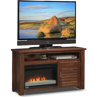 "Prairie 54"" Fireplace TV Stand with Contemporary Insert - Mesquite Pine"