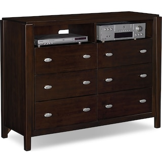 Mosaic Media Chest - Dark Brown