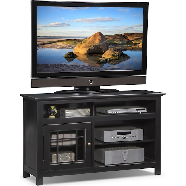 "Entertainment Furniture - Merrick 54"" TV Stand - Black"