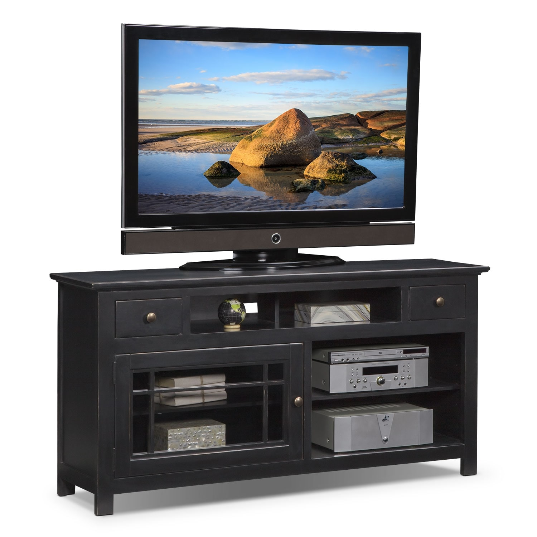 "Entertainment Furniture - Merrick Black 64"" TV Stand"
