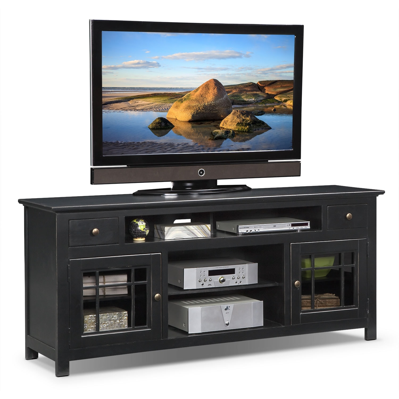 """Merrick 74"""" TV Stand - Black"""