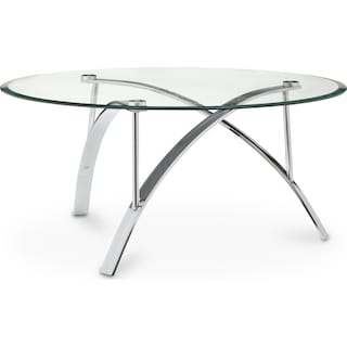 Mako Coffee Table - Silver