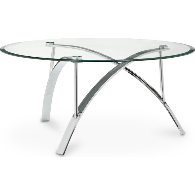 Accent and Occasional Furniture - Mako Coffee Table - Silver