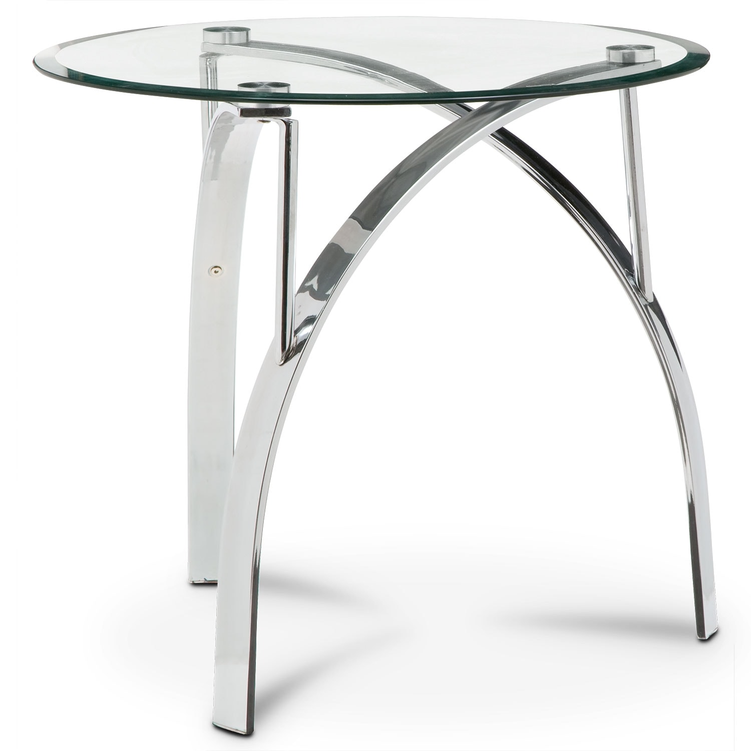 Mako End Table - Silver