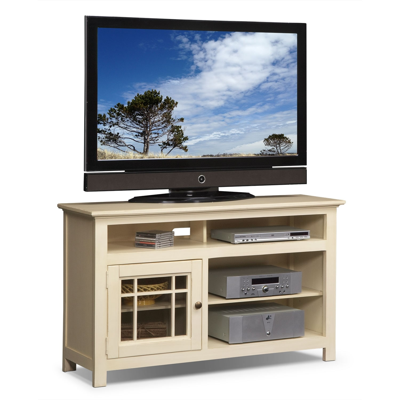 merrick 54 tv stand white american signature furniture