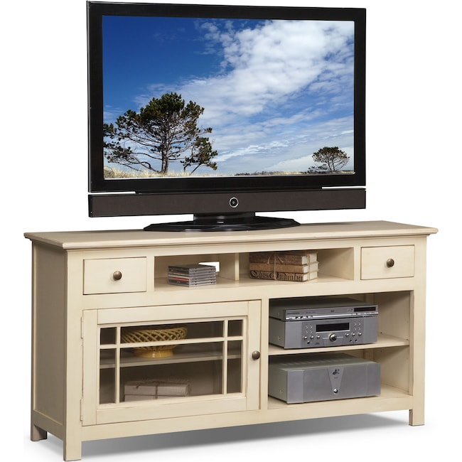 "Entertainment Furniture - Merrick 64"" TV Stand - White"