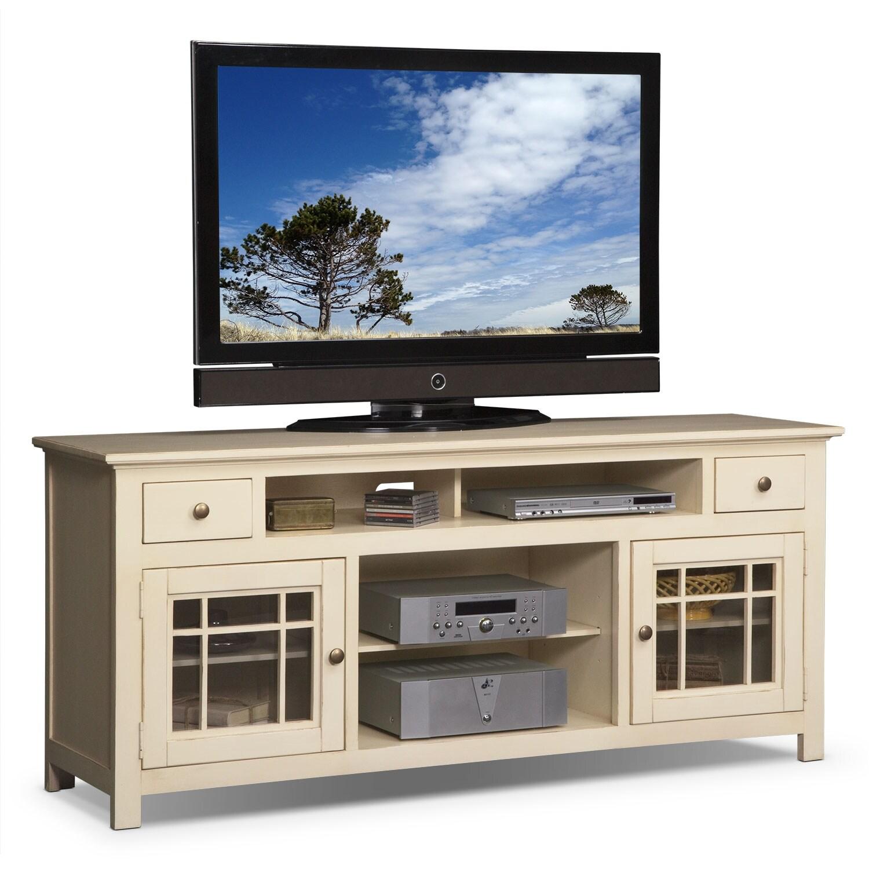merrick 74 tv stand white american signature furniture