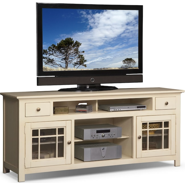 "Entertainment Furniture - Merrick 74"" TV Stand - White"