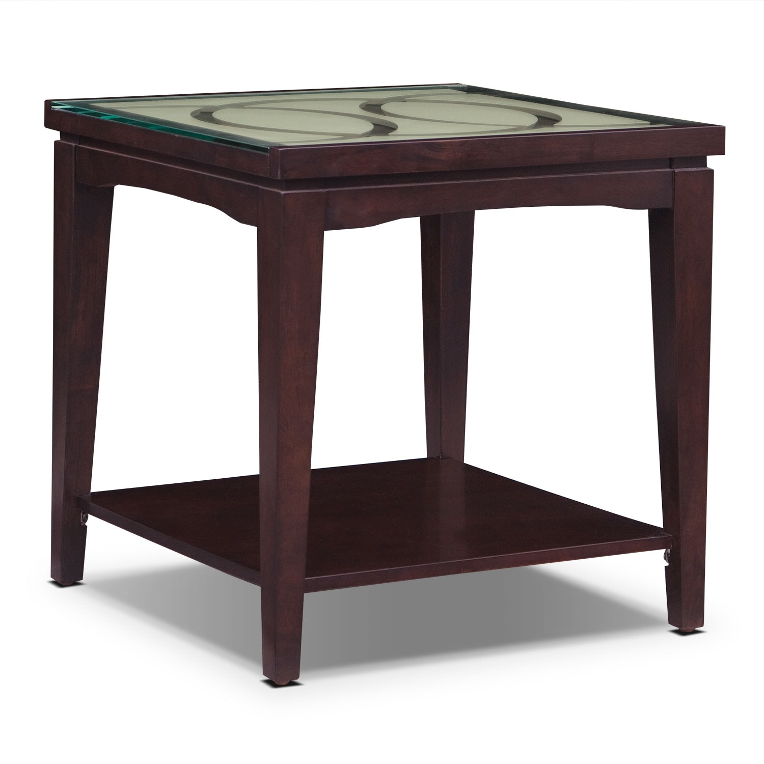 Accent and Occasional Furniture - Cosmo End Table - Merlot