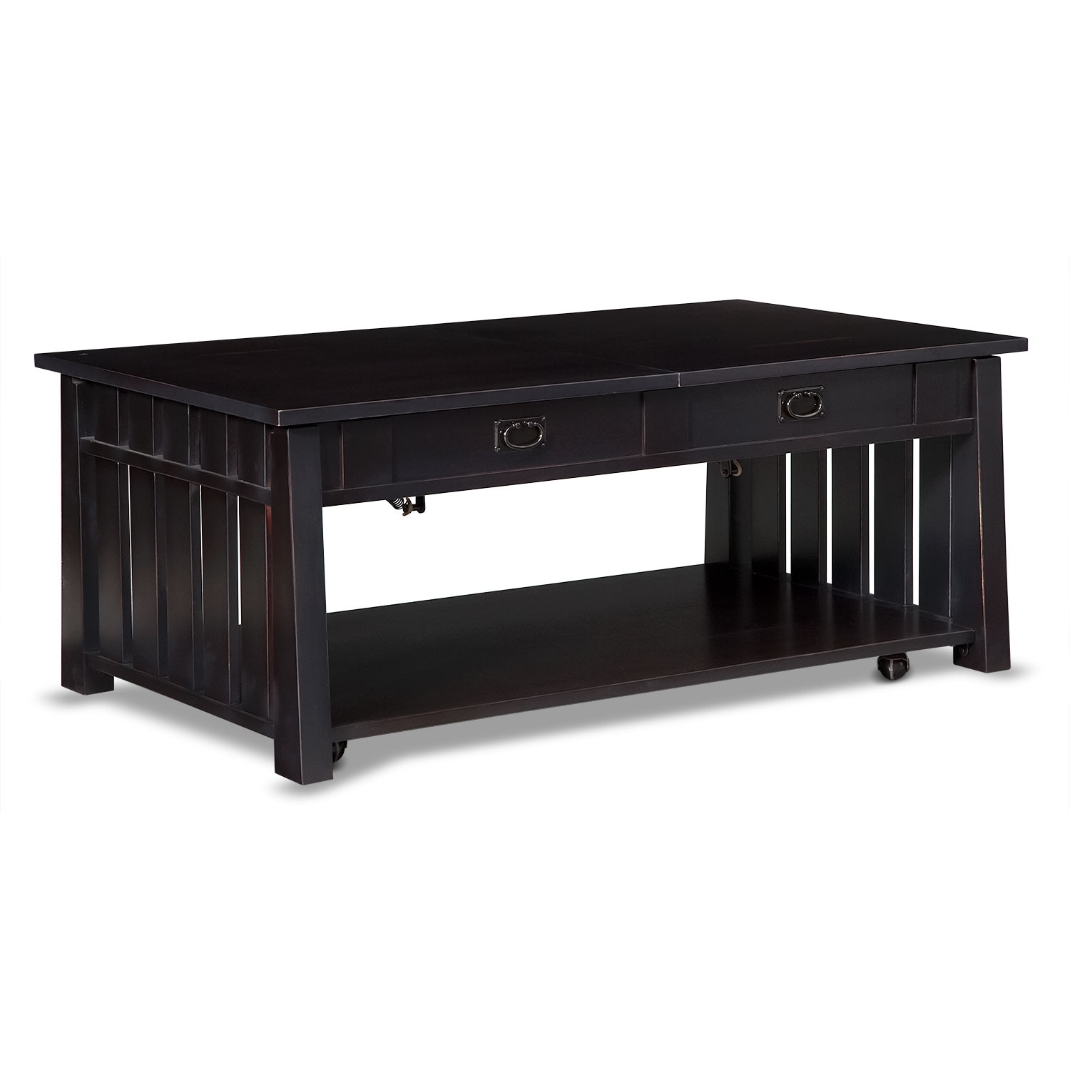 Tribute Lift Top Tail Table Black American Signature Furniture